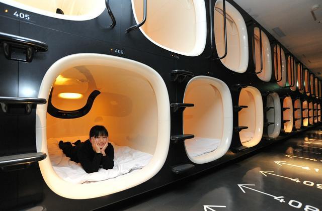 À Tokyo, vous pouvez dormir dans les Hôtels Capsules