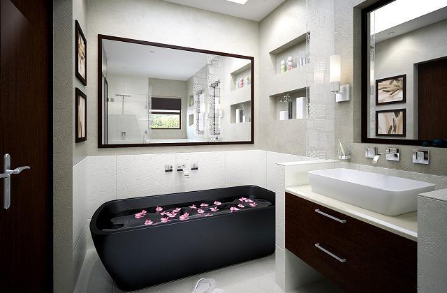 Comment meubler une petite salle de bains afin d 39 optimiser for Grand carreaux salle de bain