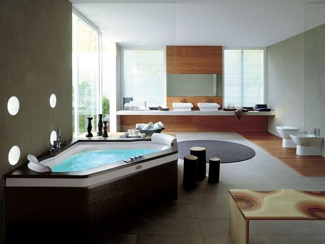 le marbre donne beaucoup d'élégance à la salle de bains