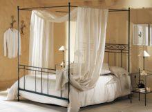 Le lit à baldaquin de design moderne