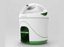 Une machine à laver sans électricité, petite et compacte