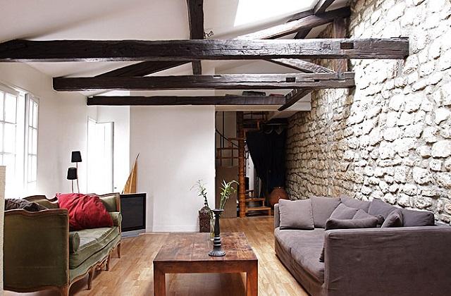 Décorer un appartement avec des poutres apparentes