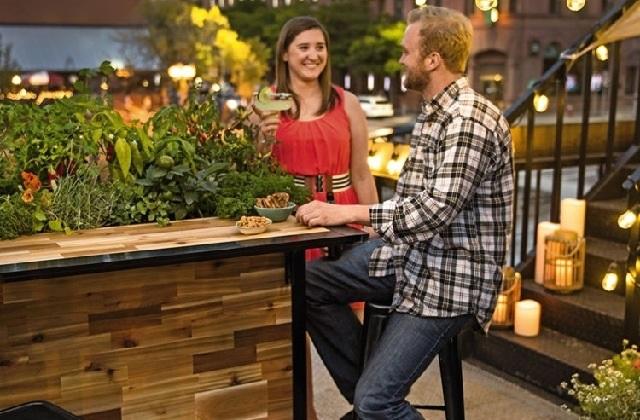 Une id e originale pour le jardin le comptoir de bar for Le jardin bar