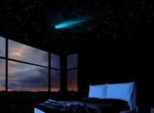 Le ciel étoilé (avec comète) dans la chambre à coucher