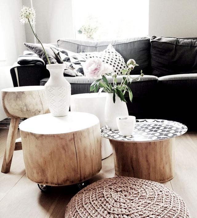 Des souches et des troncs de bois pour décorer votre maison