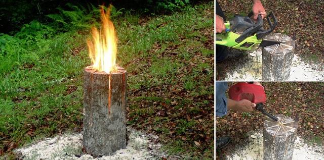 Comment fabriquer la torche suédoise, le fourneau naturel