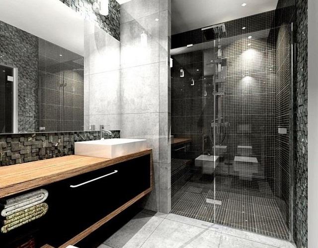 Ajouter une touche de noir dans la salle de bains