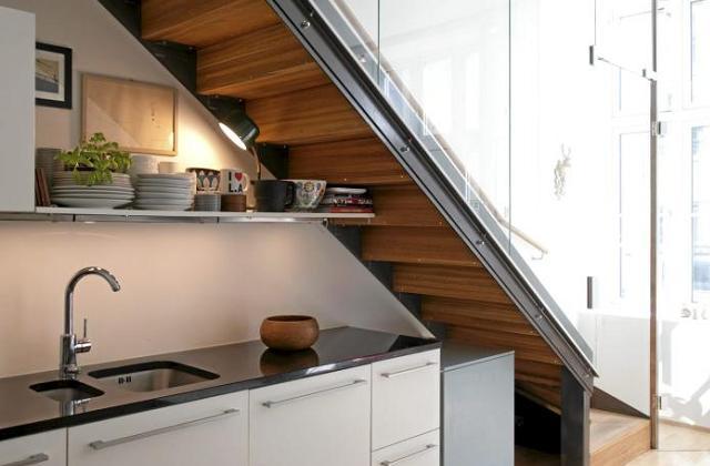 installer une petite cuisine donnant sur le salon