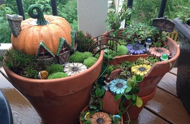Comment construire des mini-jardins à partir des pots cassés