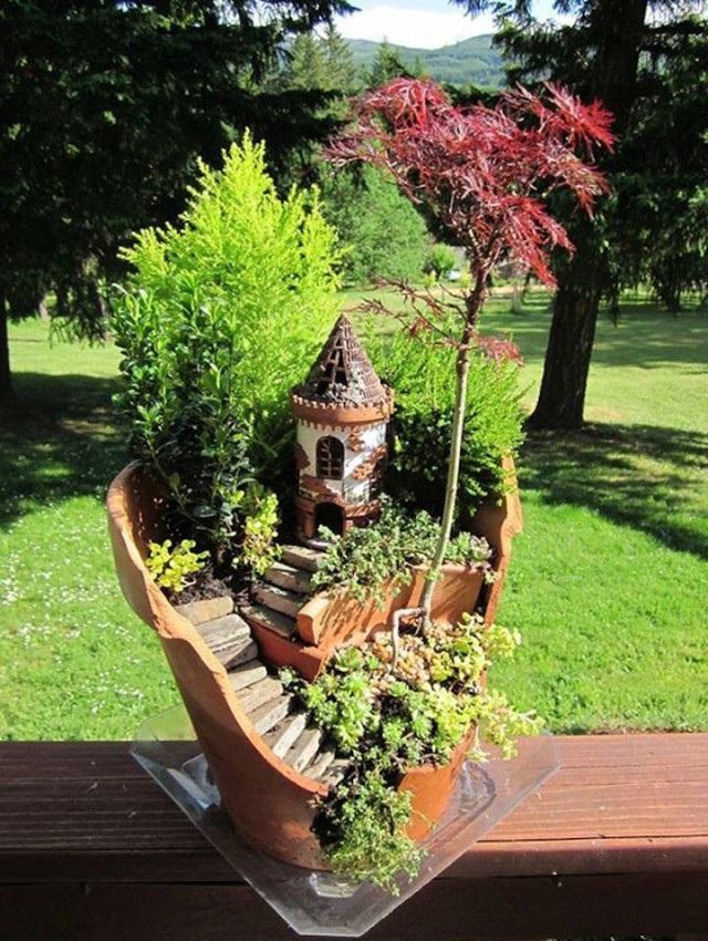 créant des mini-jardins