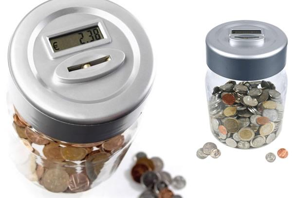 Le pot électronique compteur de pièces de monnaie