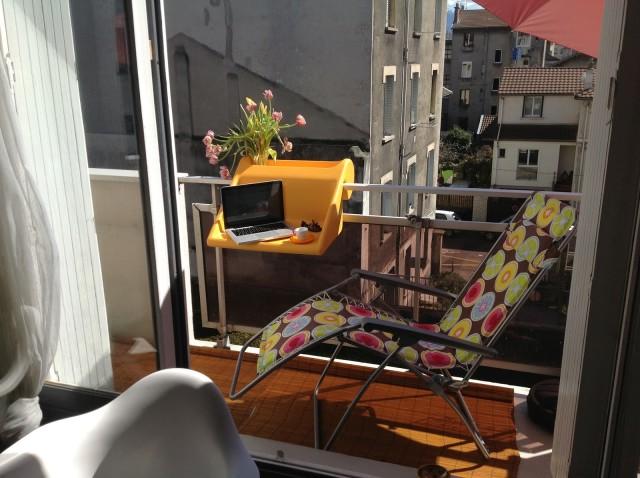 Un bureau innovant et hi-Tech pour le balcon
