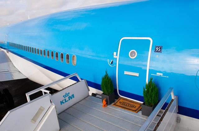 Un jet tombé en désuétude transformé en un hôtel de luxe