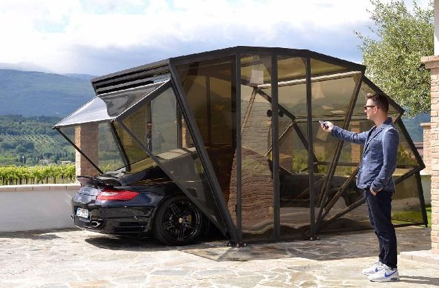 GazeBox : le premier garage pliant, étonnant