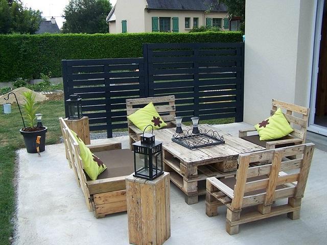Comment fabriquer vos meubles de jardin avec des palettes de manutention