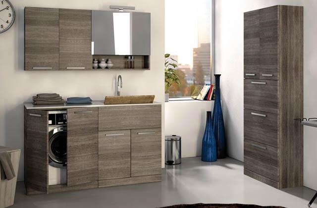 Des solutions sauve-espace pour la buanderie : cachez vos appareils électroménagers dans les meubles !