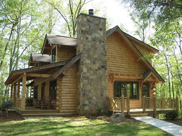 Les block house : des maisons construites en rondis de bois