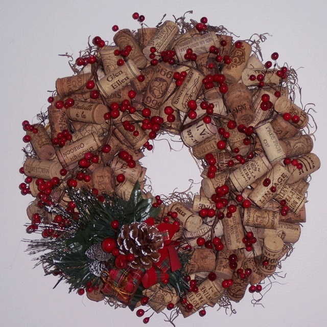guirlande de Noël bouchons