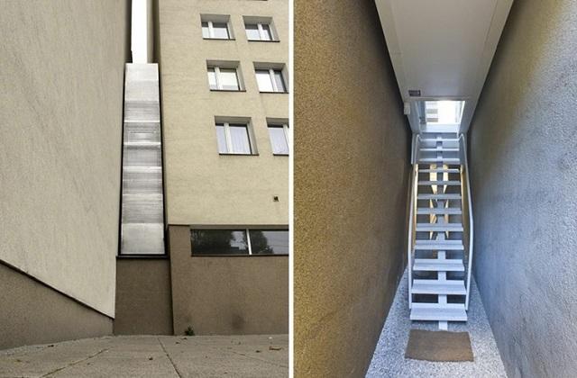 La maison la plus étroite au monde se trouve en Pologne