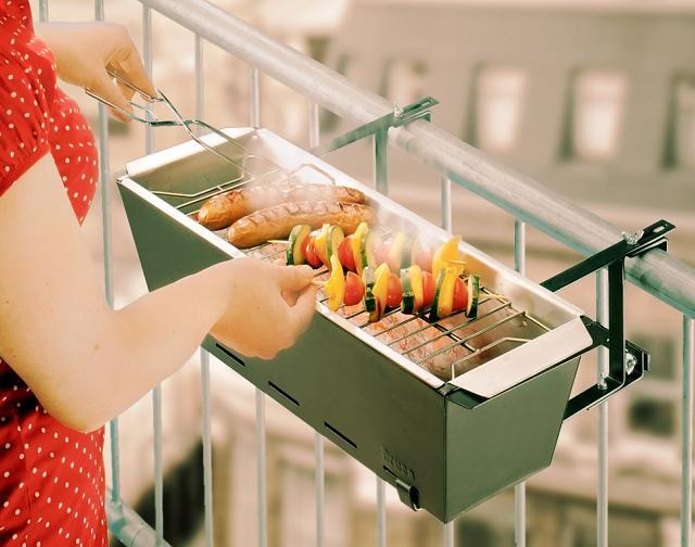 Le mini-barbecue pour le balcon