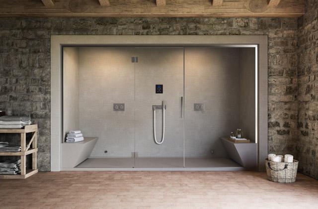 Une douche qui devient bain turc