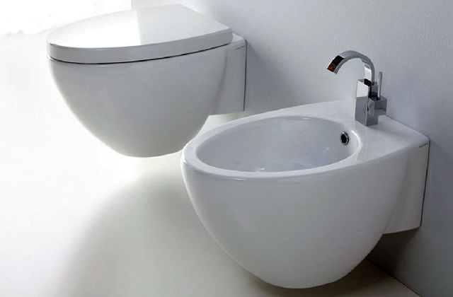 Les sanitaires d'une salle de bains de style fusion