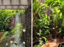 Comment construire une douche de jardin