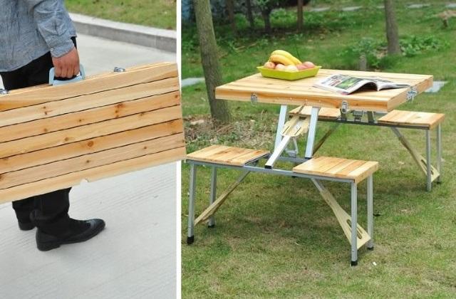 Une table très utile pour les pique-niques en plein air