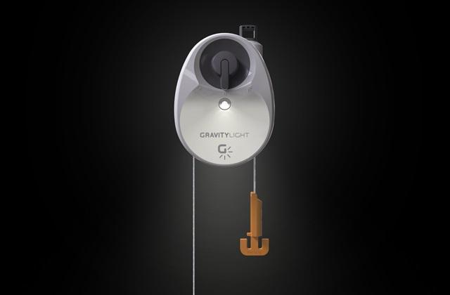 Une lampe qui fonctionne avec la force de gravité