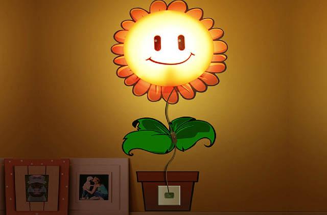 Un tournesol comme lampe pour les enfants