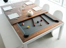 Table à manger ou table de billard ? Deux en un