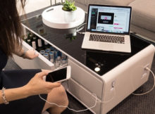 Sobro : la table multi-usage qui charge également le smartphone
