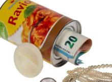 Une tirelire secrète et originale dans une canette de raviolis