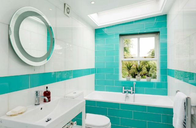 Salle de bains turquoise : idées d\'ameublement