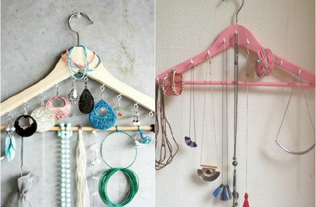 Beaucoup d'idées pour recycler les cintres