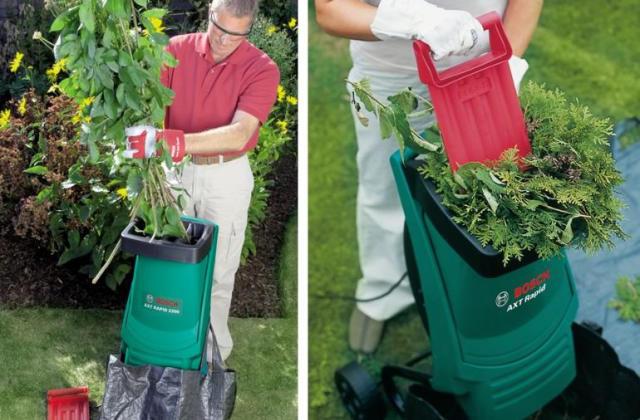 Le broyeur Bosch pour éliminer les déchets de jardinage