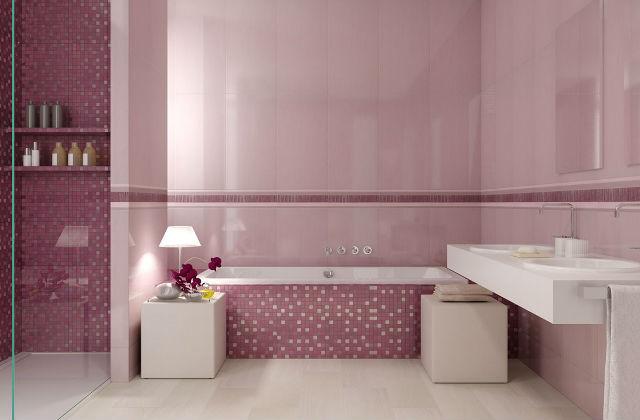 Le mobilier d'une salle de bains rose : romantisme mais pas seulement